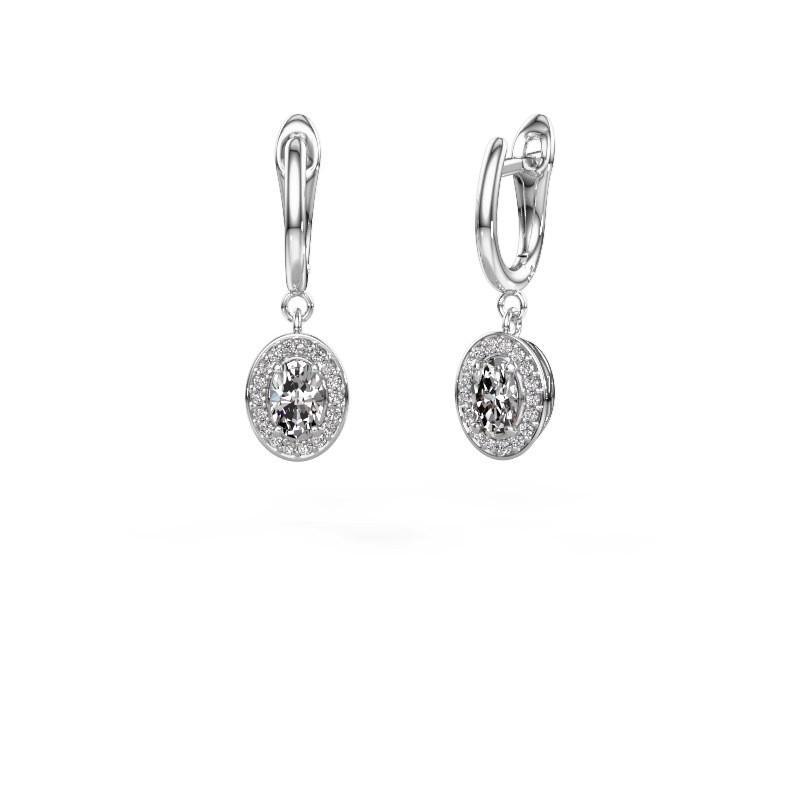 Oorhangers Nakita 585 witgoud diamant 1.241 crt