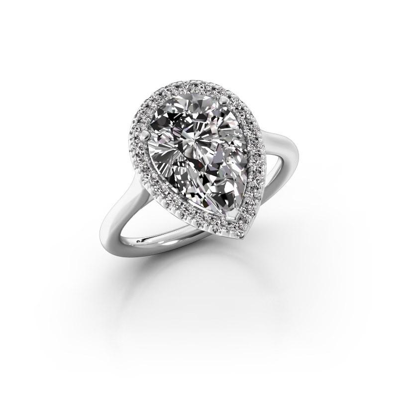 Verlovingsring Monique 1 925 zilver diamant 3.288 crt