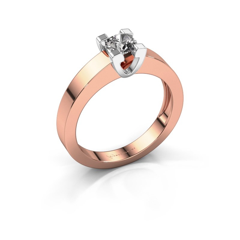 Promise ring Anne 1 585 rosé goud diamant 0.50 crt