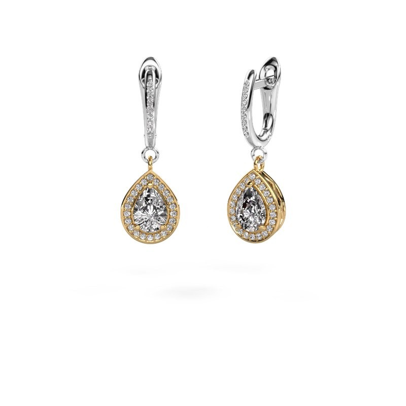 Drop earrings Ginger 2 585 gold lab-grown diamond 1.455 crt