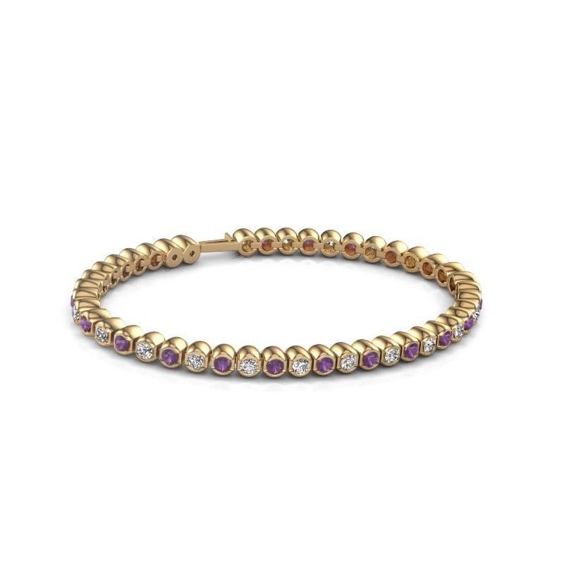 Tennisarmband Asley 375 goud amethist 3 mm