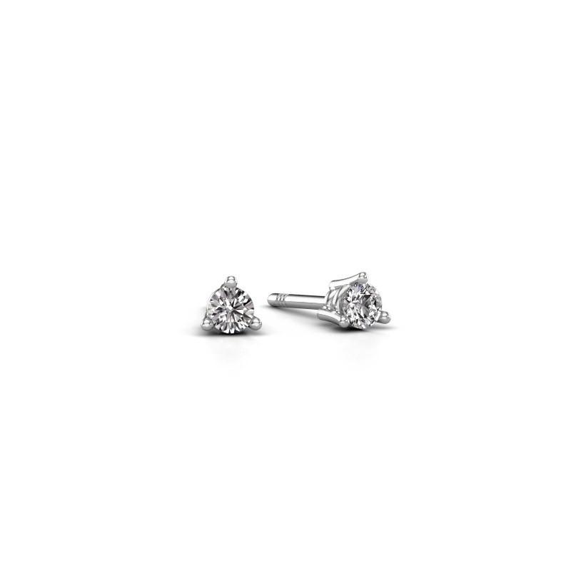 Oorstekers Somer 585 witgoud lab-grown diamant 0.10 crt