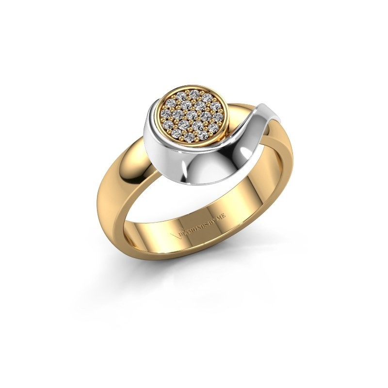 Ring Kimber 585 goud zirkonia 1 mm