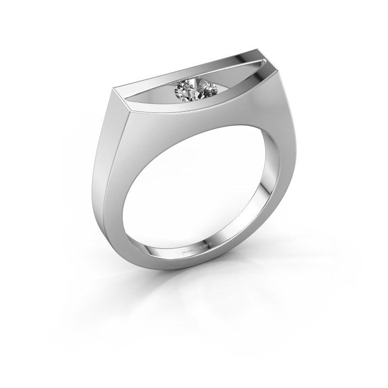 Bague Milou 585 or blanc diamant 0.30 crt