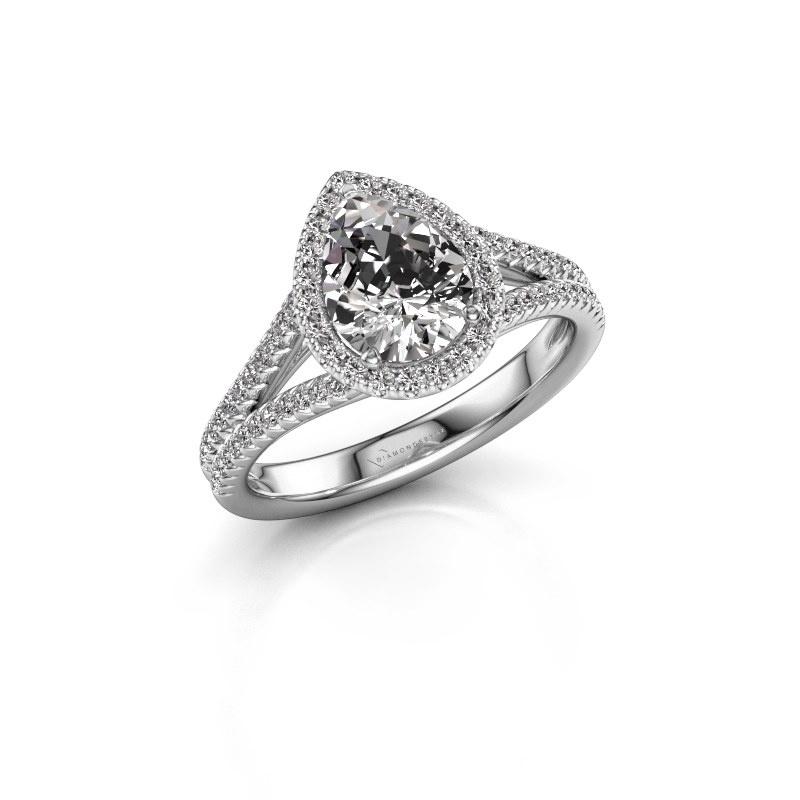 Verlobungsring Verla pear 2 925 Silber Diamant 1.337 crt
