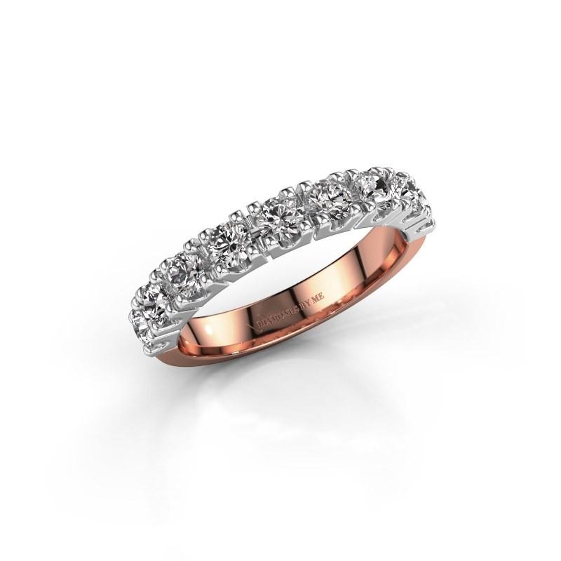Aanzoeksring Rianne 9 585 rosé goud diamant 0.90 crt