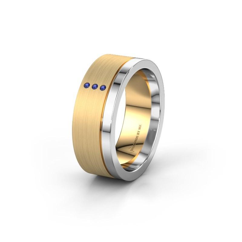Trouwring WH0325L17APM 585 goud saffier ±7x1.7 mm