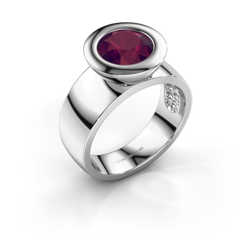 Ring Maxime 925 silver rhodolite 8 mm