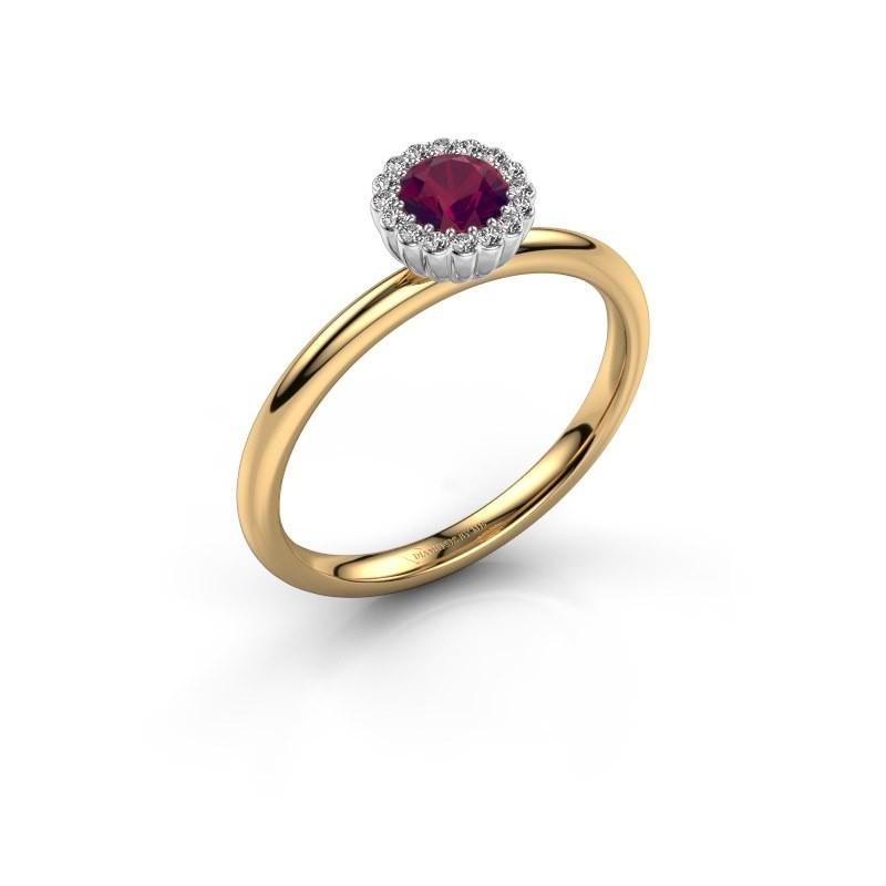 Engagement ring Queen 585 gold rhodolite 4.2 mm