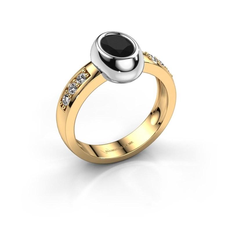 Ring Charlotte Oval 585 Gold Schwarz Diamant 1.23 crt