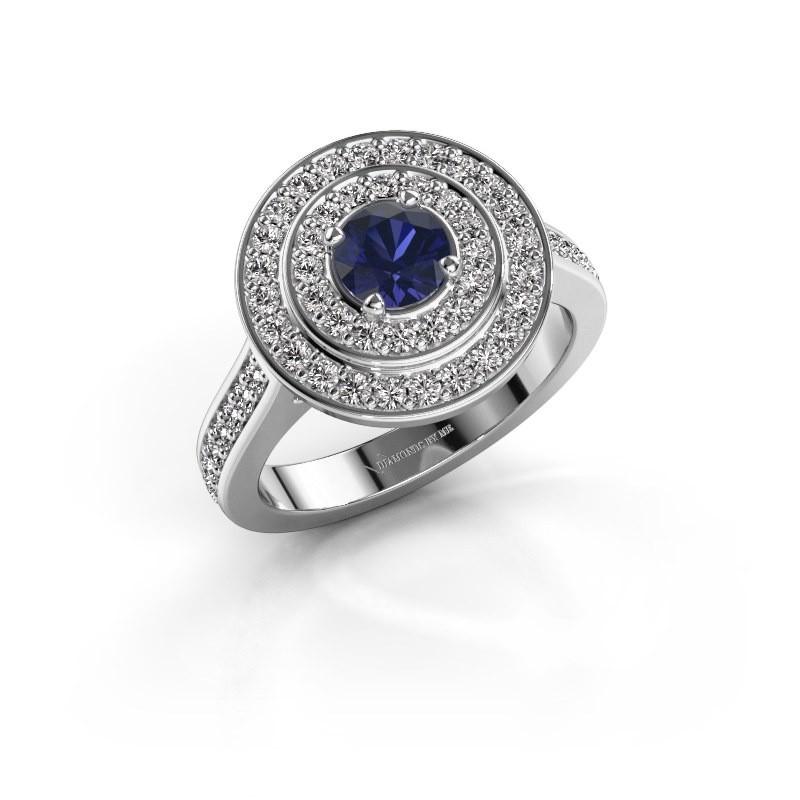 Ring Alecia 2 925 zilver saffier 5 mm