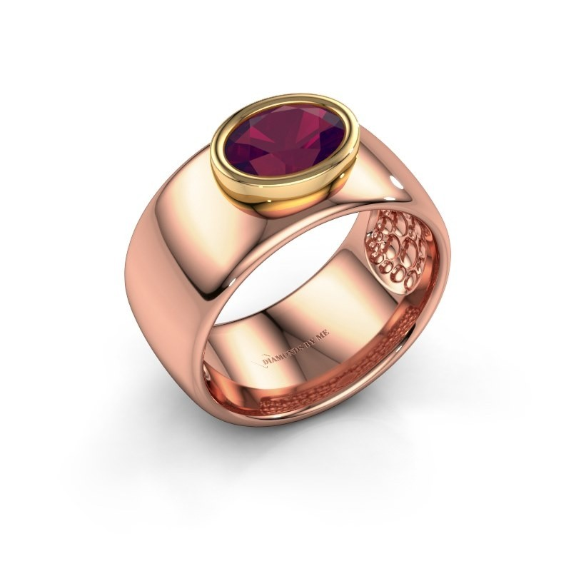 Ring Anouschka 585 rose gold rhodolite 8x6 mm