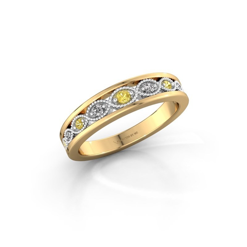 Stackable ring Laine 585 gold yellow sapphire 2 mm