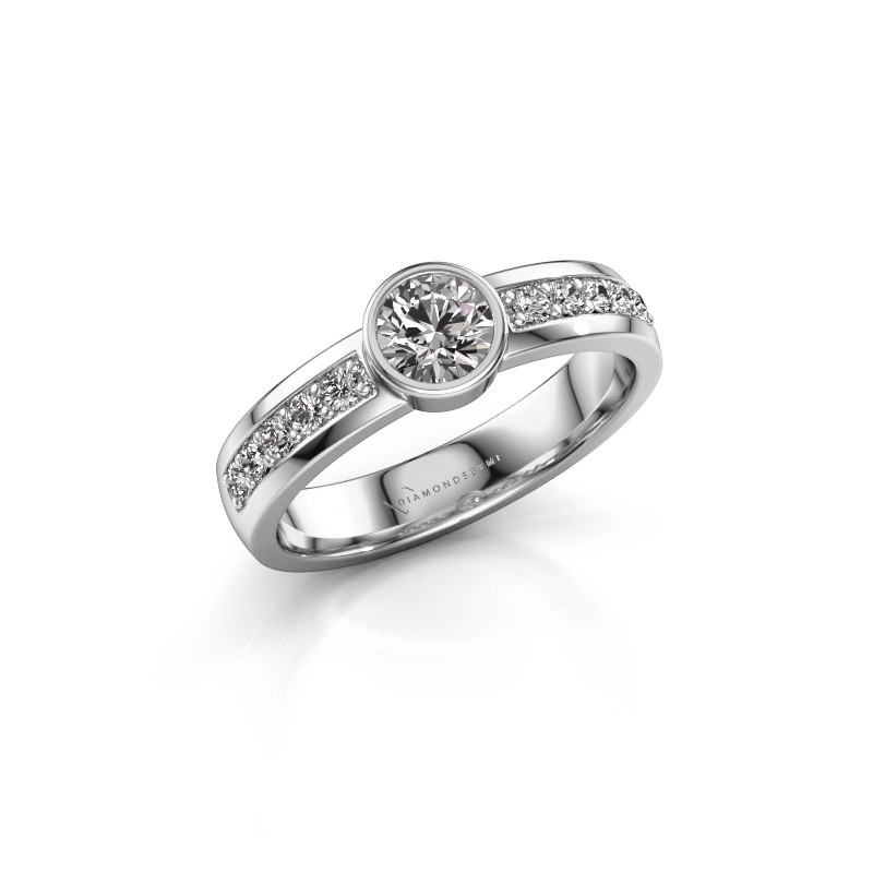 Aanzoeksring Ise 2 950 platina diamant 0.60 crt