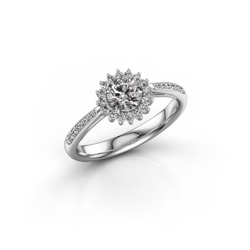 Engagement ring Mariska 2 585 white gold diamond 0.50 crt