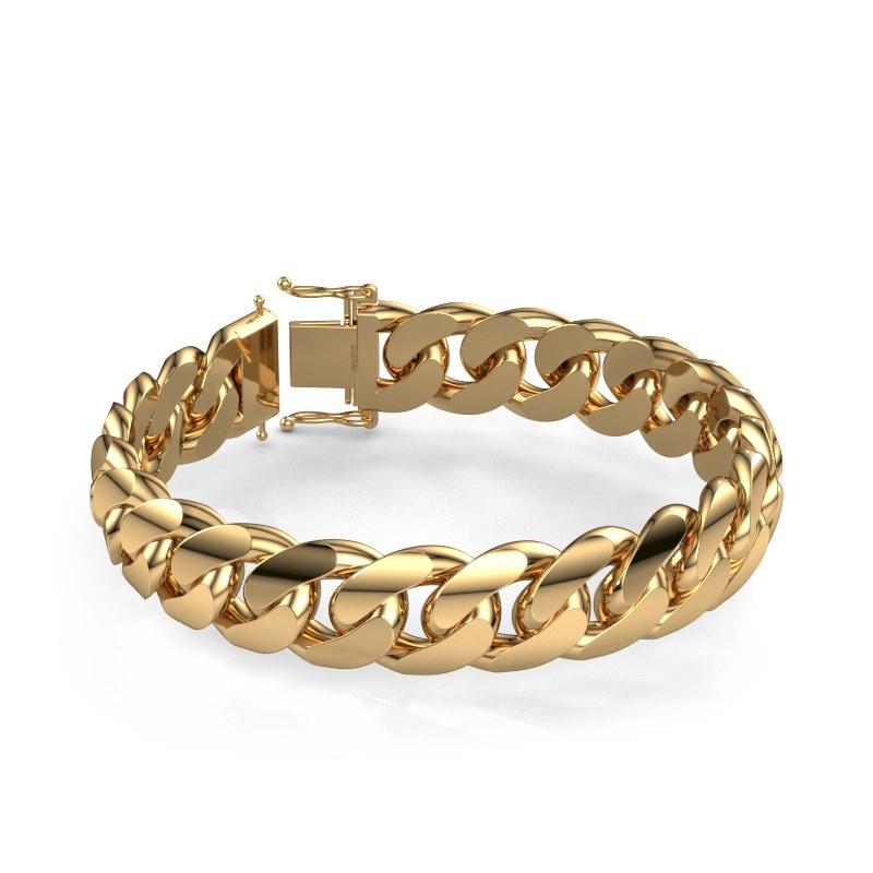 Cuban link armband ±15 mm 585 goud