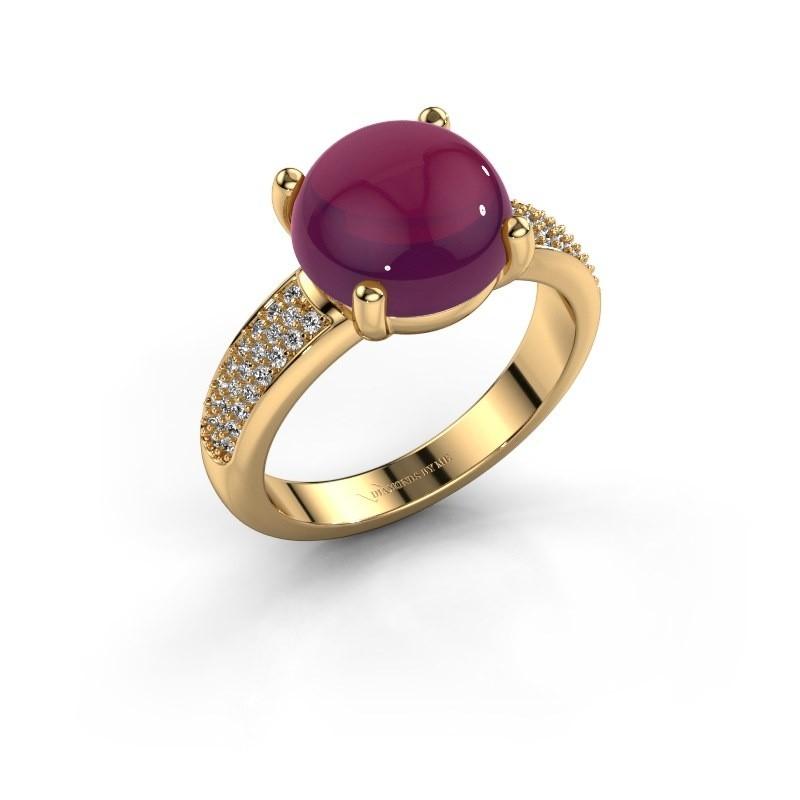 Ring Sophie 585 goud rhodoliet 10 mm