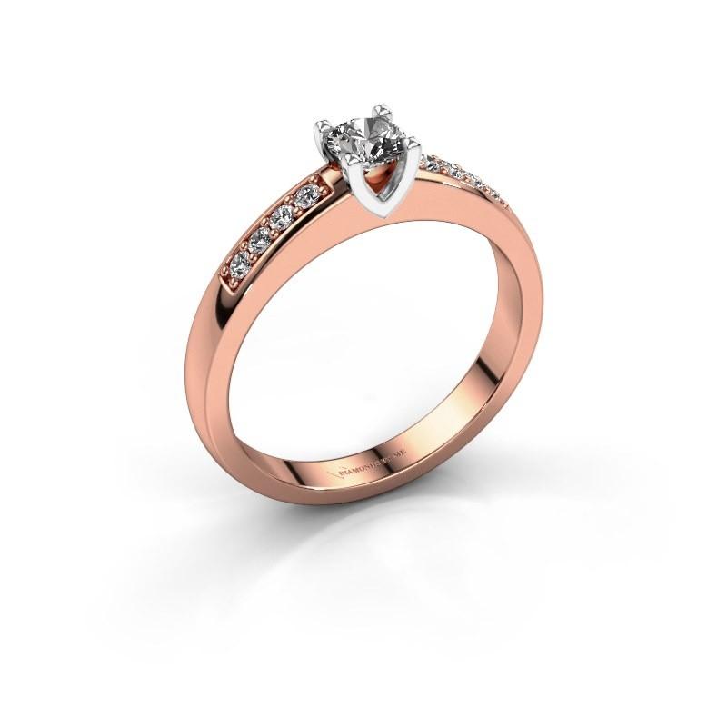 Verlovingsring Isabella 2 585 rosé goud diamant 0.37 crt