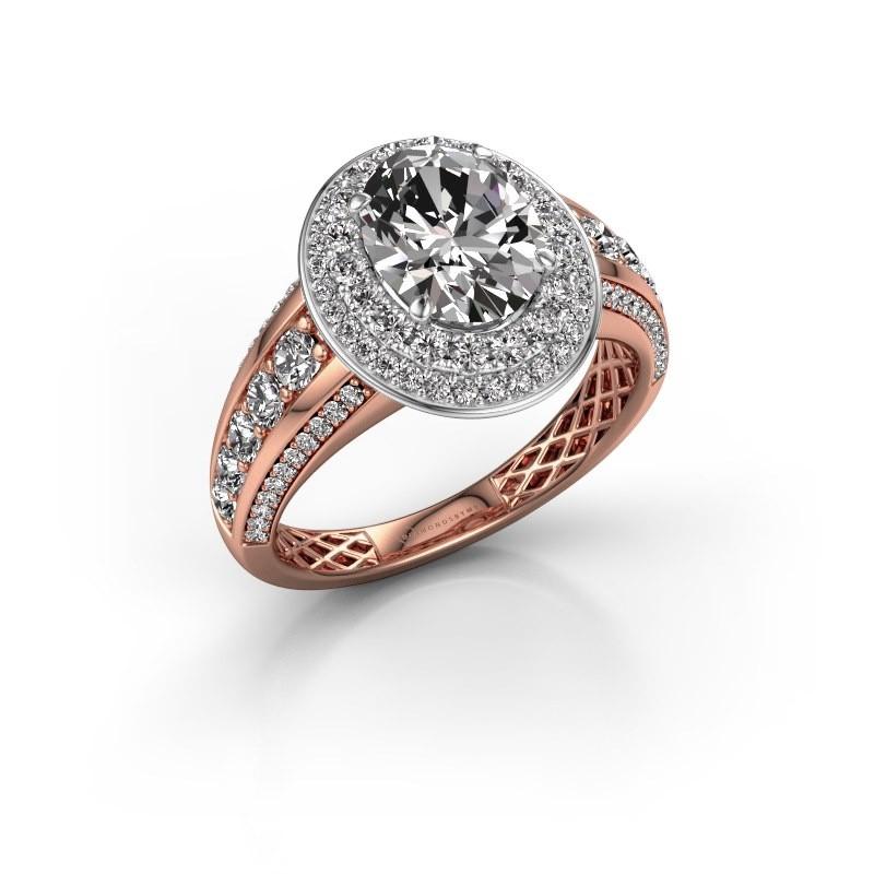 Engagement ring Nancie 585 rose gold diamond 2.89 crt
