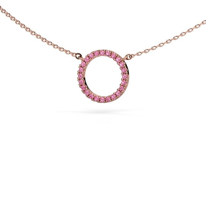 Hanger Circle 375 rosé goud roze saffier 1.2 mm