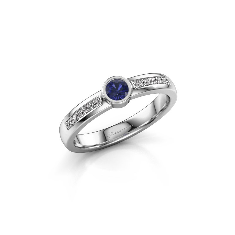 Engagement ring Ise 2 925 silver sapphire 3.7 mm