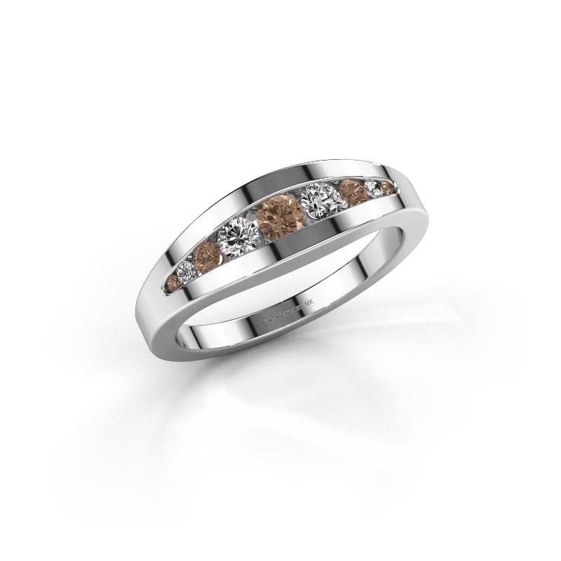Ring Oneida 925 silver brown diamond 0.363 crt