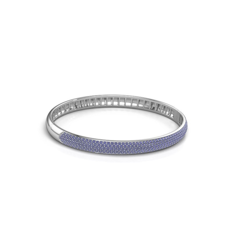 Armband Emely 6mm 585 witgoud saffier 1.2 mm