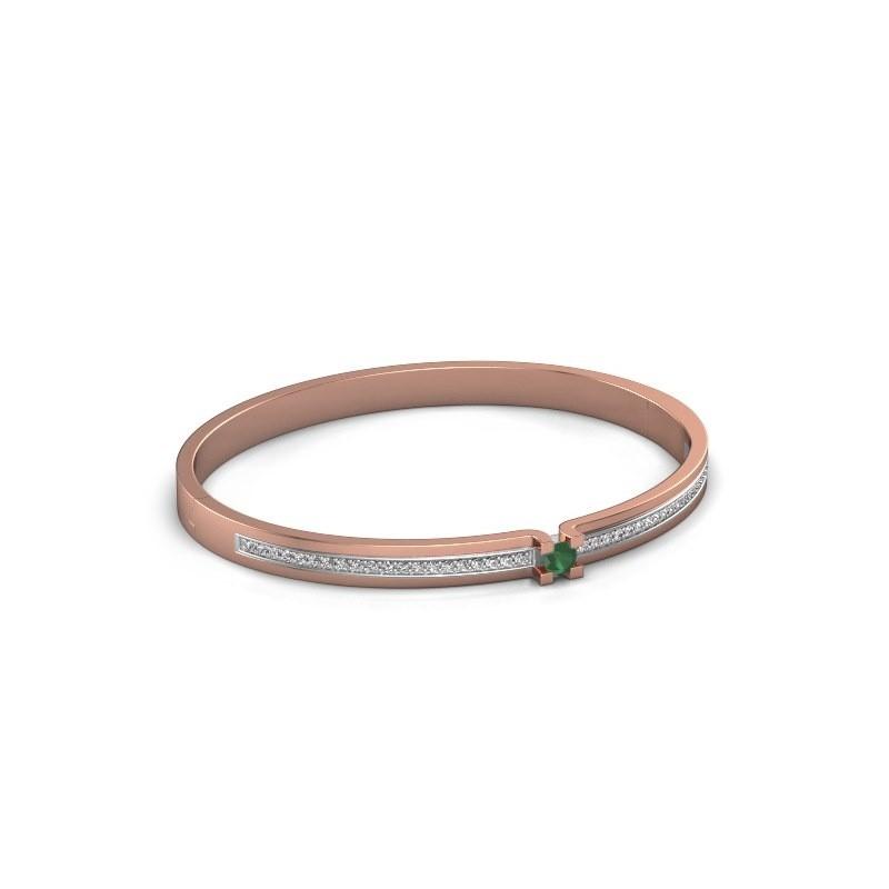 Armband Myrthe 585 rosé goud smaragd 4 mm