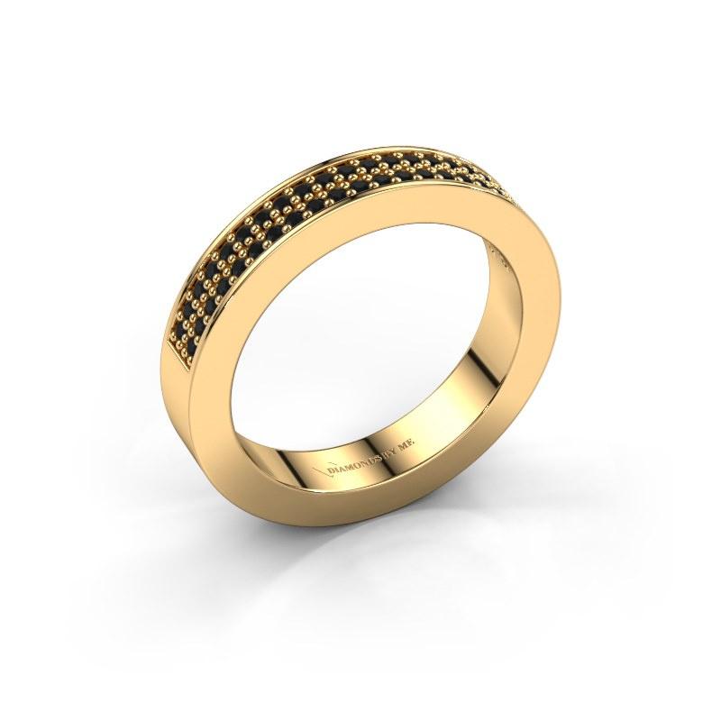 Aanschuifring Catharina 2 585 goud zwarte diamant 0.352 crt