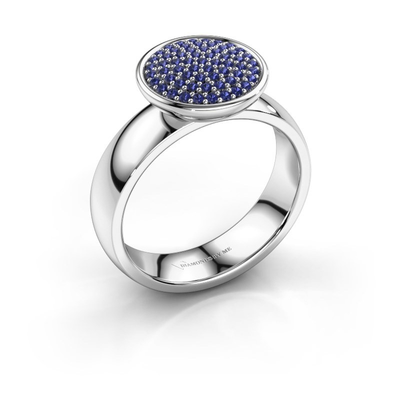 Ring Tilda 585 witgoud saffier 1 mm