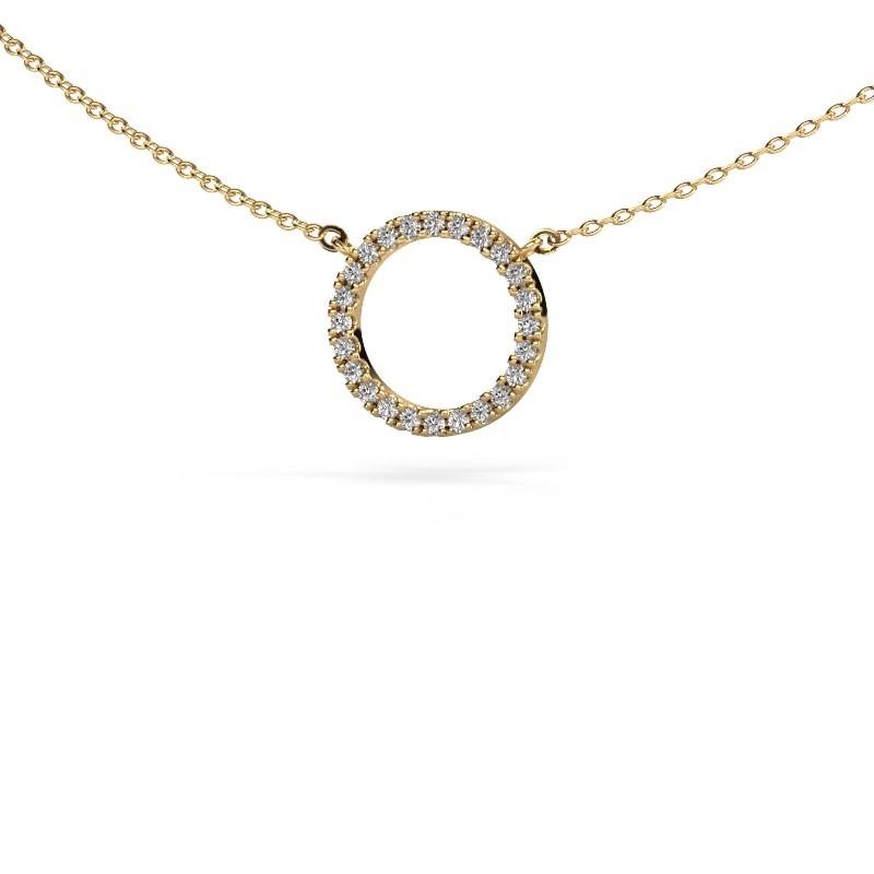 Hanger Circle 375 goud lab-grown diamant 0.18 crt