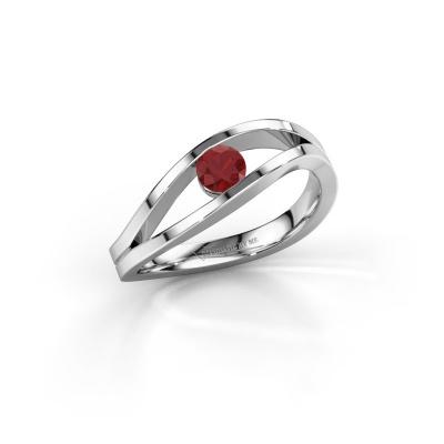 Foto van Ring Sigrid 1 925 zilver robijn 4 mm