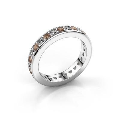 Aanschuifring Nienke 950 platina bruine diamant 1.26 crt