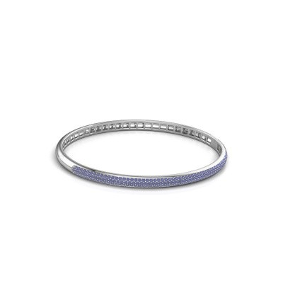 Foto van Slavenarmband Emely 4mm 585 witgoud saffier 1.1 mm