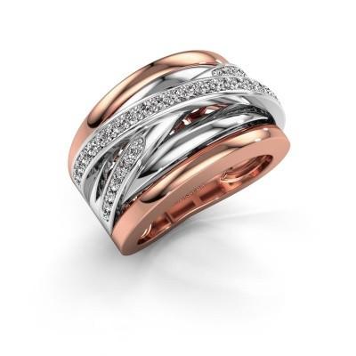 Foto van Ring Clair 3 585 rosé goud zirkonia 1.5 mm