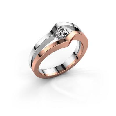 Ring Elize 585 rose gold diamond 0.25 crt
