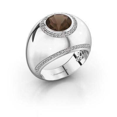 Ring Roxann 925 silver smokey quartz 8 mm