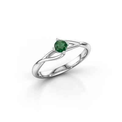 Picture of Engagement ring Paulien 585 white gold emerald 4 mm