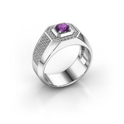 Heren ring Pavan 925 zilver amethist 5 mm
