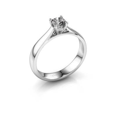 Bague de fiançailles Sam 950 platine diamant 0.40 crt