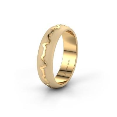 Foto van Trouwring Heartbeat 1 585 goud ±5x1.7 mm