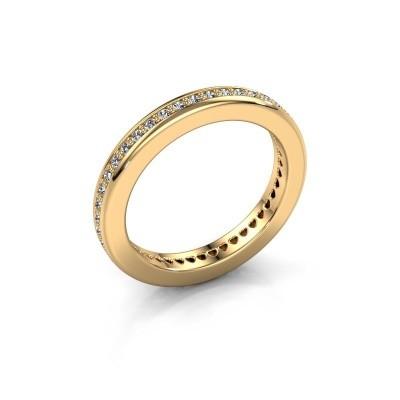 Aanschuifring Elvire 3 375 goud zirkonia 1.3 mm