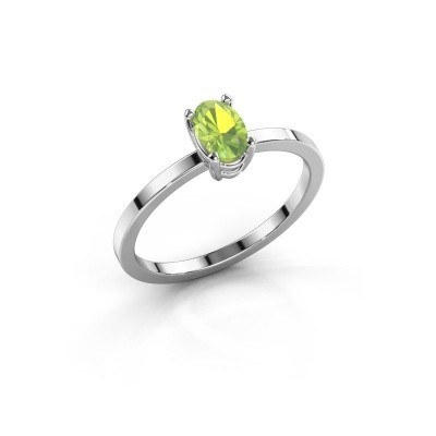 Picture of Ring Lynelle 1 585 white gold peridot 6x4 mm