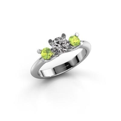 Bague Mirthe 950 platine diamant 0.50 crt