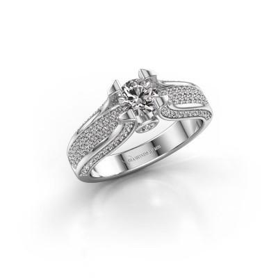 Foto van Verlovingsring Jeanne 2 950 platina diamant 1.026 crt