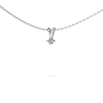 Bild von Kette Jannette 585 Weißgold Diamant 0.20 crt