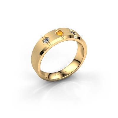 Picture of Men's ring Remco 585 gold citrin 2.7 mm