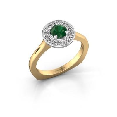 Foto van Ring Kanisha 1 585 goud smaragd 5 mm