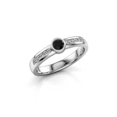 Engagement ring Ise 2 585 white gold black diamond 0.315 crt