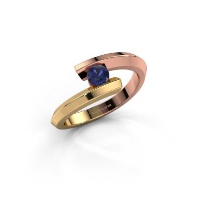 Ring Paulette 585 rose gold sapphire 3.4 mm